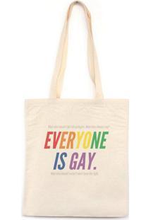 Everyone Is Gay - Bolsa De Lona-Off White-U