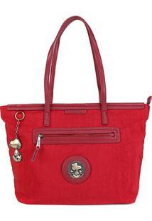 Bolsa Snoopy Shopper Bag Grande Feminina - Feminino-Vermelho