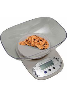 Balança Digital De Precisão Cozinha E Comércio 1G A 5 Kg Com Bandeja Branca Cbrn02580