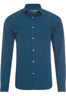 Camisa Masculina Casual Diamonds – Azul