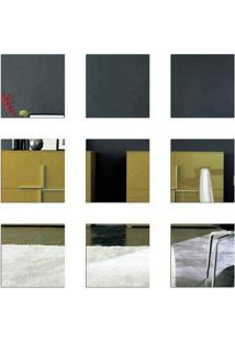 Espelho Decorativo - 9 Quadrados Tamanho 16,5 X 16,5 Cm Cada