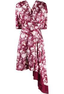 Three Floor Vestido Irregular Dream Assimétrico - Roxo