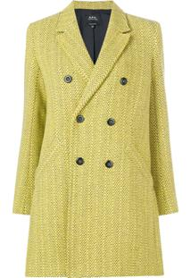 A.P.C. Casaco Transpassado Com Textura - Amarelo