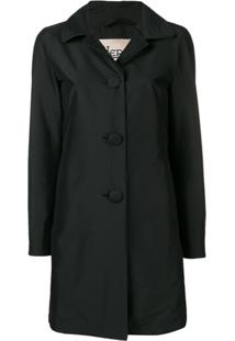 Herno Peter Pan Collar Trench Coat - Preto