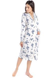 Robe Feminino De Inverno Aberto Com Bolso Floral Fiorella - Kanui