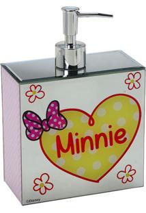 Dispenser Minnie® - Rosa Claro & Branco - 19,5X14X7Cmabruk