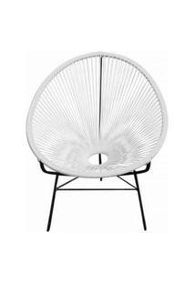 Cadeira Acapulco Branca De Corda Pet Designer