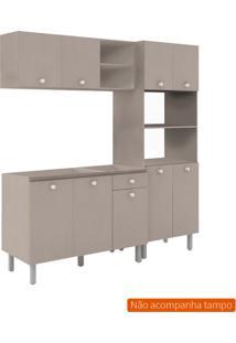 Cozinha Compacta Piazza 9 Pt 1 Gv Bege