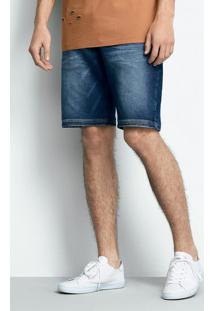 Bermuda Jeans Masculina Slim Em Algodão E Moletom