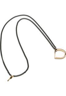 Colar Key Design - Ringo Gold - Ônix Prata