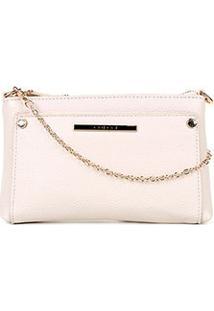 Bolsa Colcci Mini Bag Tiracolo Alça Corrente Feminina - Feminino-Off White