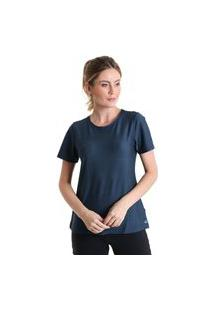 Camiseta Feminina Dry Air - Azul Marinho - Líquido