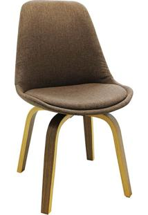 Cadeira Lis Tecido -Rivatti - Marrom