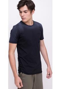 Camiseta Com Bolso E Efeito Spray