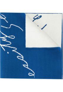 Necessity Sense Echarpe Com Logo - Azul