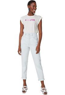 Calça Jeans Slim Detalhe Listras Bolso