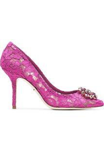 Dolce & Gabbana Scarpin 'Belucci 90' Com Renda - Rosa