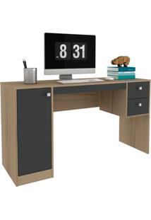 Escrivaninha Home Office 1 Pt 2 Gv Avelã E Ônix