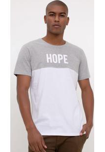 Camiseta Slim Com Estampa Hope