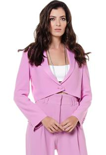 Blazer Plena Curto - Pl-7935-Rosa