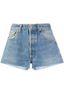 Re/Done Bermuda Jeans Slim - Azul
