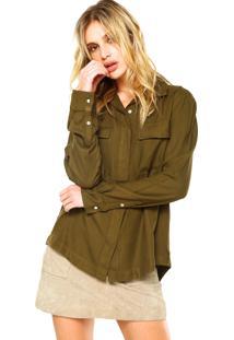 Camisa Manga Longa Ellus Fresh Rayon Verde