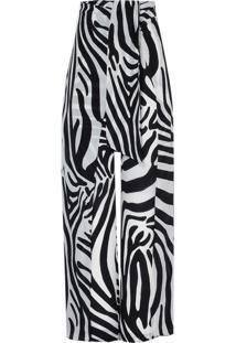 Calca Helena Seda (Zebra P & B, 34)