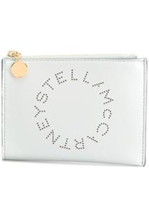 Stella Mccartney Clutch Com Logo Perfurado - 1628