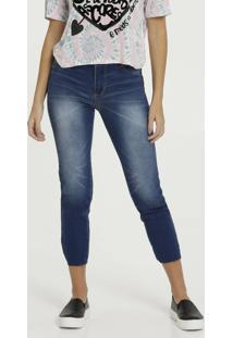 Calça Feminina Jeans Capri Sawary