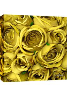 Quadro Impressão Digital Rosas Amarelo 30X30Cm Uniart