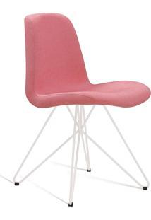 Cadeira Eames Com Base Butterfly Branco E Coral Daf