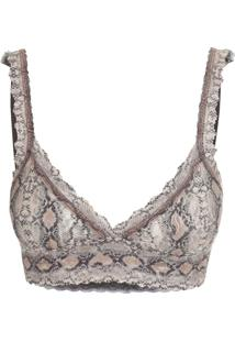 Sut Top Renda Anaconda Animal Print - P