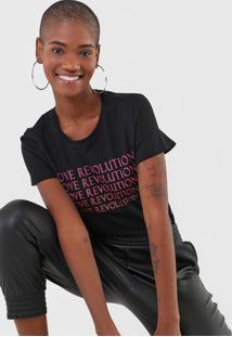 Camiseta Enfim Love Revolution Preta