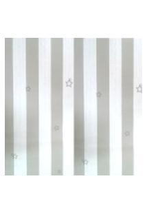 Kit 4 Rolos De Papel De Parede Fwb Lavável Listrado Cinza E Branco