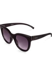 Óculos De Sol Gatinho Em Acetato Preto