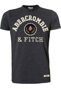 Camiseta Abercrombie Chumbo Applique Logo