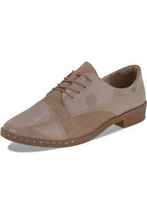 Sapato Feminino Oxford Mississipi - Q2442 Bege 34