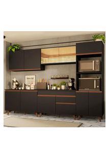 Cozinha Completa Madesa Reims 310001 Com Armário E Balcáo - Preto Preto