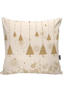 Capa De Almofada Natalina- Off White & Dourada- 45X4Stm Home