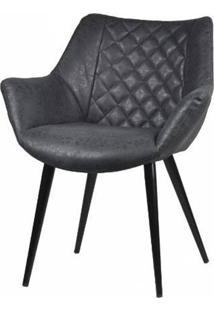 Cadeira Frank Corino Preto Vintage Base Preta 82Cm - 62934 - Sun House