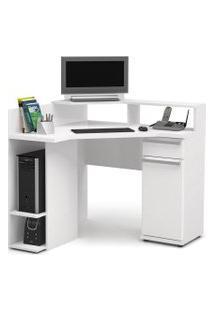 Escrivaninha 1 Gaveta E 1 Porta Canto Branca S975-Br Kappesberg