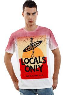 Camiseta John John Rx Locals Only Malha Off White Masculina Tshirt Rx Locals Only-Off White-P