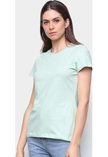 Camiseta Malwee Baby Look Antivirais Feminina - Feminino-Verde