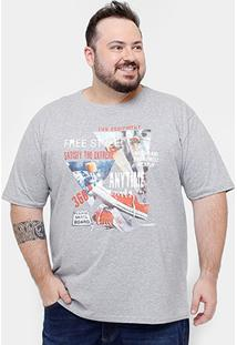 Camiseta Eagle Brasil Satisfy Plus Size Masculina - Masculino