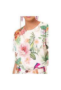 T-Shirt Pop Floral Fille Multicolorido