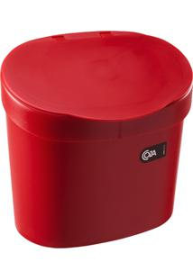 Lixeira Coza Para Pia 4L Vermelha
