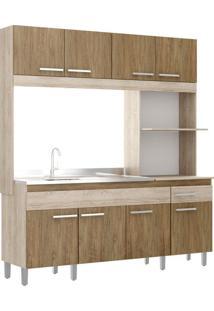 Cozinha Compacta Decibal Tulipa, 8 Portas, 1 Gaveta - Ct801