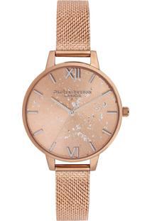 Relógio Olivia Burton Feminino Aço Rosé - Ob16Gd12