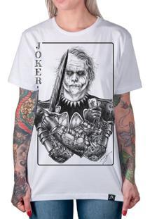 Camiseta Coringa Joker Clássico Feminina - Feminino-Branco
