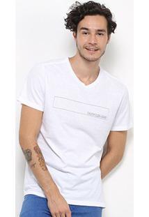 Camiseta Calvin Klein Estampada Masculina - Masculino-Branco